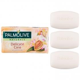 Jabón pastilla sensitivo NB Palmolive pack de 3 unidades de 90 g.