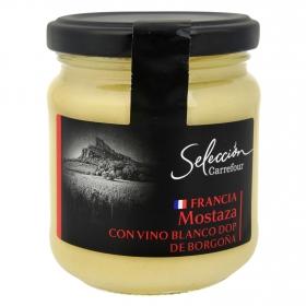 Mostaza con vino blanco Carrefour Selección tarro 210 g.