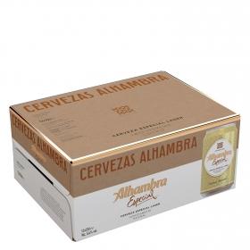 Cerveza Alhambra Lager especial pack de 12 latas
