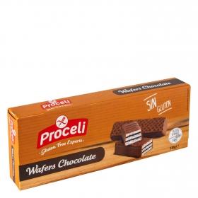 Galletas de chocolate Waffers sin gluten 130 g.