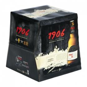 Cerveza 1906 Reserva Especial pack de 9 botellas de 25 cl.