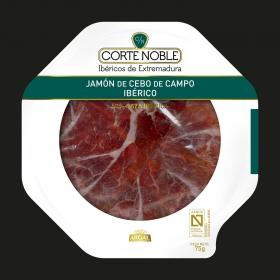 Jamón ibérico de cebo en plato Corte Noble Argal 75 g. 75 g.