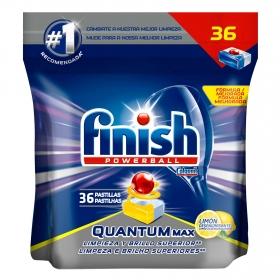 Lavavajillas máquina  quantum aroma limón en pastillas Finish 36 ud.
