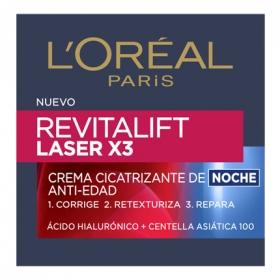 Crema cicatrizante de noche anti-edad Laser X3 L'Oréal-Revitalift 50 ml.