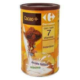 Cacao soluble insatntáneo Carrefour 600 g.