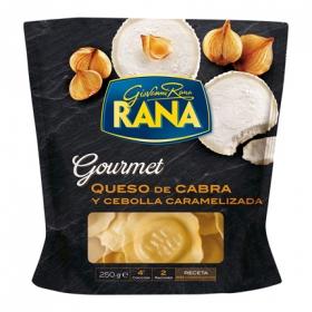 Ravioli queso de cabra y cebolla caramelizada