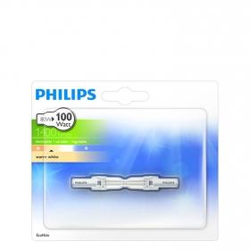 Bombilla Halógena Philips Ecohalo 78mm 80W R7s
