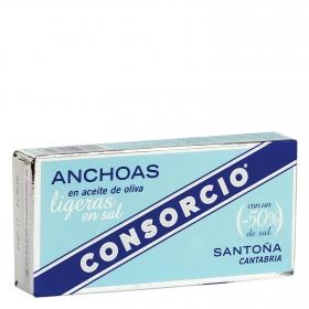 Filetes de anchoa en aceite de oliva Consorcio 26 g.