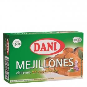 Mejillones en escabeche 13/18 piezas Dani 69 g.