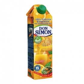 Zumo de naranja Don Simón sin pulpa brik 1 l.