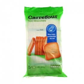 Biscottes contenido muy bajo de sal Carrefour 800 g.