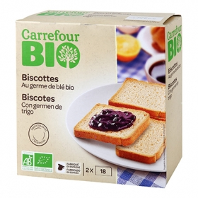 Biscottes normales ecológicos Carrefour Bio 300 g.
