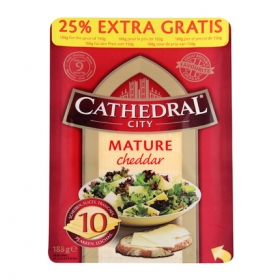 Cathedral City lonchas 160 g.