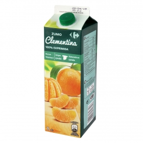Zumo de clementinas Carrefour exprimido brik de 1 l.