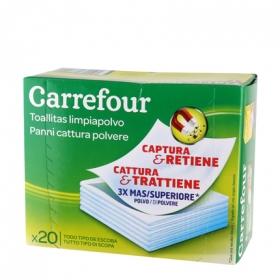 Gamuza atrapa polvo Carrefour 20 ud.