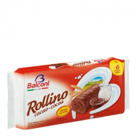 Mini rollitos de chocolate