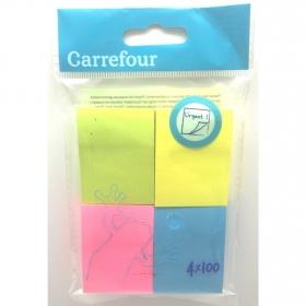 Notas Adhesivas Carrefour 4x100 uds