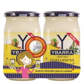 Mayonesa Ybarra sin gluten y sin lactosa pack de 2 tarros de 400 g.