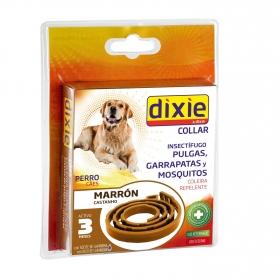 Collar insectifugo para perro marrón