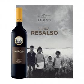 LOTE 93: 3 botellas D.O. Ribera del Duero Finca Resalso tinto 4 meses barrica 75 cl.