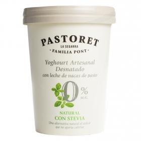 Yogur desnatado natural con stevia Pastoret 500 g.