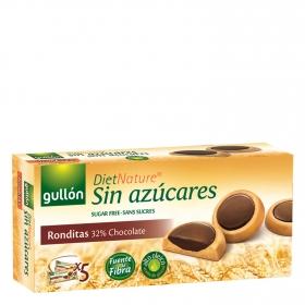 Galletas ronditas de chocolate sin azúcares Diet Nature Gullón 186 g.