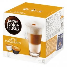 Café latte macchiato en cápsulas Nescafé Dolce Gusto 8 unidades de 24,3 g.