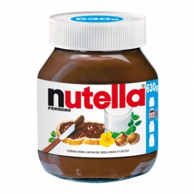 Crema de cacao con avellanas Nutella 630 g.