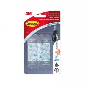 Set de Ganchos adhesivos de Plástico 2,2 x 1 x 2,7 cm  Translúcido