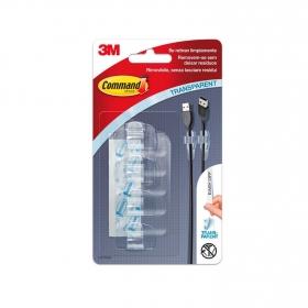 Set Ganchos adhesivos de Plástico 1,8 x 1,3 x 3,5 cm  Translúcido