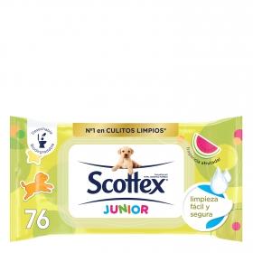 Papel higiénico húmedo Junior Jumbo Scottex 76 ud.