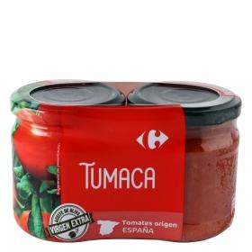 Tumaca natural con aceite de oliva