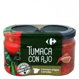 Tumaca con ajo y aceite de oliva Carrefour 370 g.