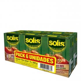 Tomate frito Solís pack de 6 briks de 350 g.