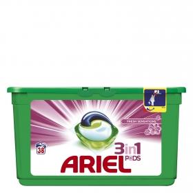 Detergente 3 en 1 en cápsulas Sensaciones Ariel 38 ud.