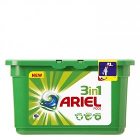 Detergente en cápsulas 3 en 1 Ariel 11 ud.