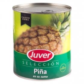 Piña en su jugo en rodajas Juver 836 g.
