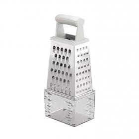 Rallador Medidor TESCOMA 4 Caras - Metalizado