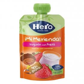 Yogur con fresa en bolsita Hero Nanos 100 g.