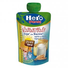 Yogur con bizcocho