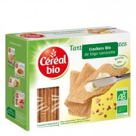 Crackers de trigo sarraceno ecológicos Cereal Bio 185 g.