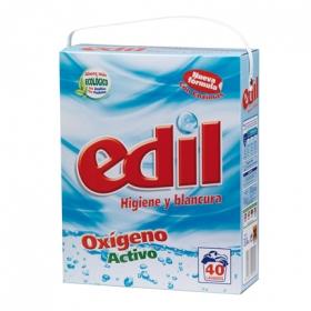 Detergente oxígeno activo en polvo Edil 40 lavados.