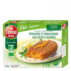 Hamburguesa vegetal de bulgur y espelta con verduras ecológica Cereal Bio pack de 2 unidades de 100 g.