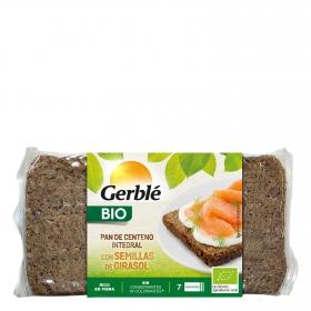 Pan de centeno integral con semillas de girasol ecológico Gerblé Bio 500 g.