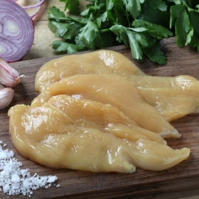 Pechuga de pollo de corral filetada