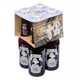 Sidra Maeloc achampanada sabor mora pack de 4 botellas de 20 cl.