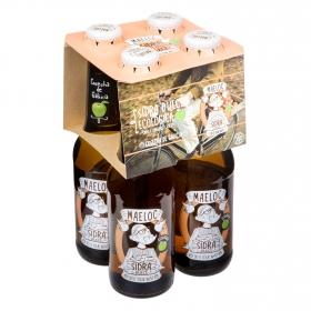 Sidra ecológica Maeloc achampanada dulce pack de 4 botellas