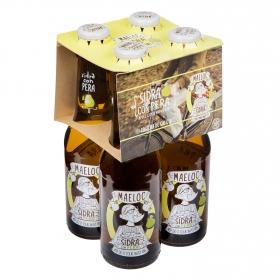 Sidra Maeloc sabor pera pack de 4 botellas