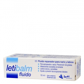 Letibalm-Bálsamo reparador para nariz y labios en tubo.