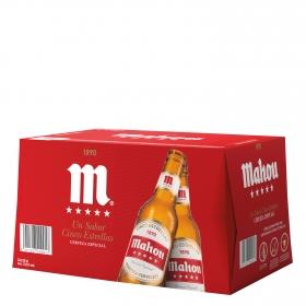 Cerveza Mahou 5 Estrellas especial pack de 24 botellas de 25 cl.